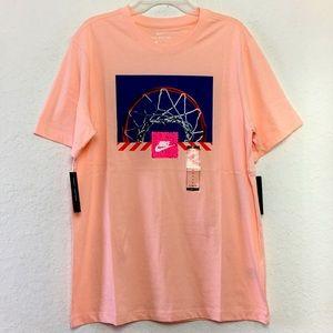 NWT Men Nike Sportswear Pink Shirt Size